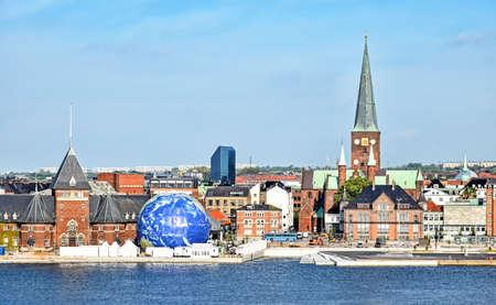 Cityscape of Aarhus in Denmark 版權商用圖片