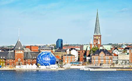 Aarhus, Denmark - July 20, 2017: Cityscape of Aarhus in Denmark 新聞圖片