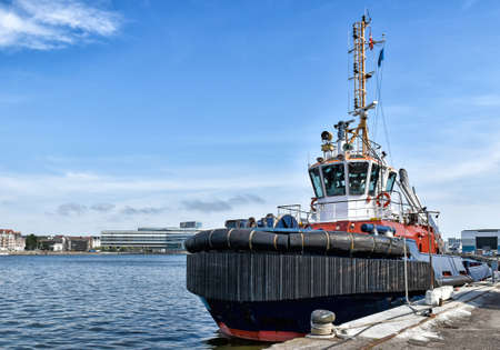 Tugboat in the port of Aarhus in Denmark 版權商用圖片
