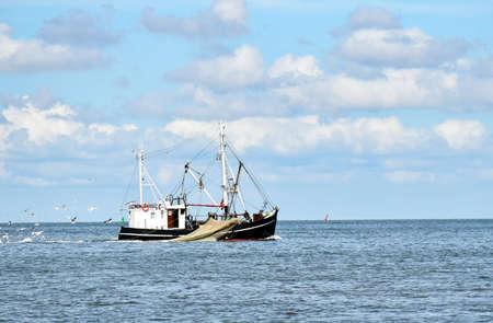 Fishing in the North Sea near Büsum in North Frisia (Germany)
