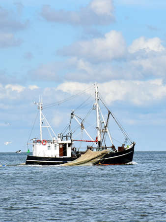 Fishing in the North Sea near Busum in North Frisia (Germany)
