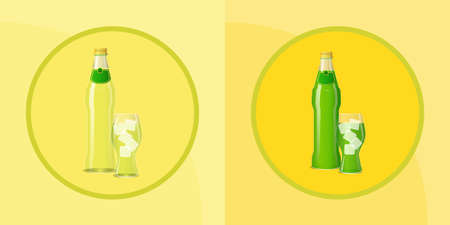 Soda and glass Illustration