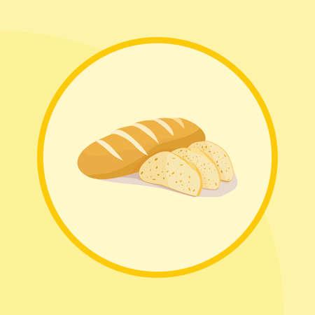 Bread (milk-loaf) vector image Çizim