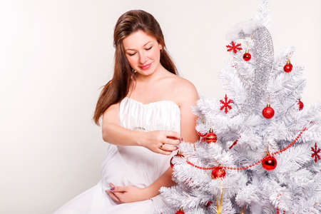 Beautiful pregnant woman photo