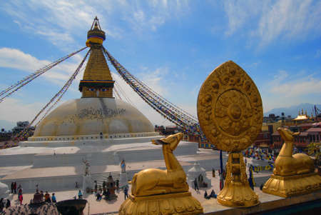 Boudhanath Stupa is one of the holiest Buddhist sites in Kathmandu  The stupa