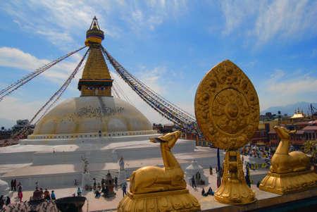holiest: Boudhanath Stupa is one of the holiest Buddhist sites in Kathmandu  The stupa