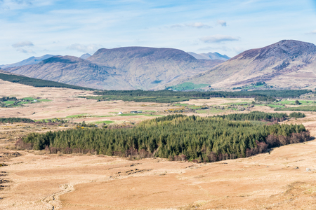 county kerry: Gorgeous scenery of Irish mountains in County Kerry, near Kilarney National park.