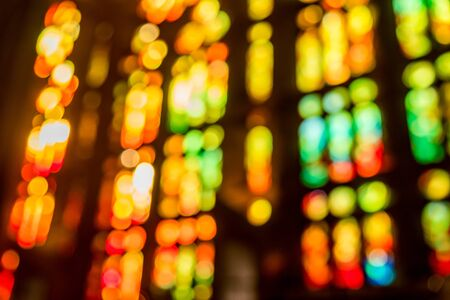 cathedrals: A magnificent and mystic bokeh from from cathedrals stained glass
