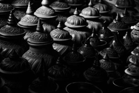 earthenware: Earthenware Black and White Stock Photo