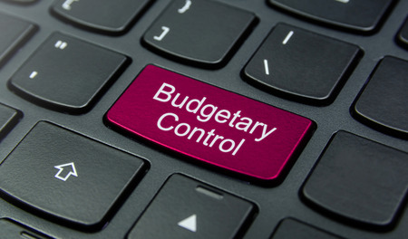 budgetary: Close-up the Budgetary Control button on the keyboard and have Magenta color button isolate black keyboard