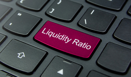 liquidity: Close-up the Liquidity Ratio button on the keyboard and have Magenta color button isolate black keyboard
