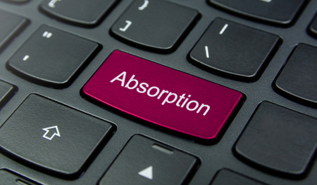 absorption: Close-up the Absorption button on the keyboard and have Magenta color button isolate black keyboard
