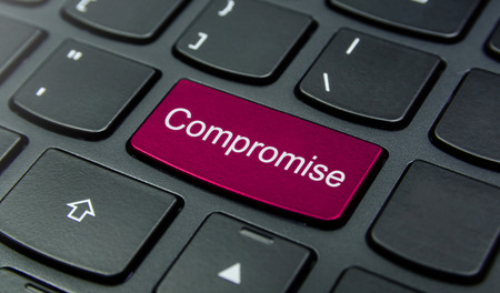 compromise: Close-up the Compromise button on the keyboard and have Magenta color button isolate black keyboard