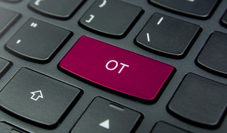 ot: Close-up the OT button on the keyboard and have Magenta color button isolate black keyboard