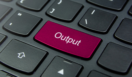 output: Close-up the Output button on the keyboard and have Magenta color button isolate black keyboard