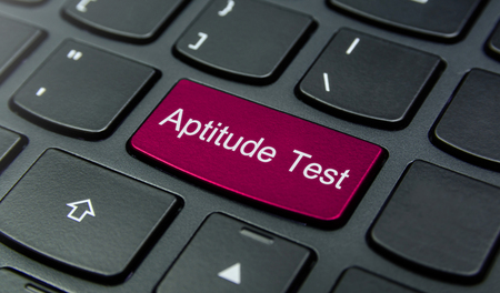 aptitude: Close-up the Aptitude Test button on the keyboard and have Magenta color button isolate black keyboard