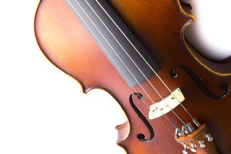 stradivarius: Vintage violin on white background