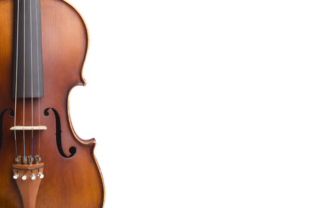 Vintage violin on white background