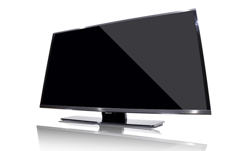tv monitor isolated on the white background