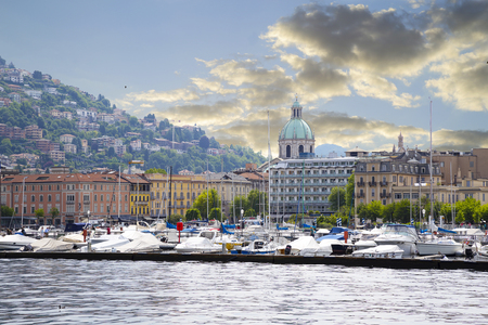 View of Lake of Como, Italy,