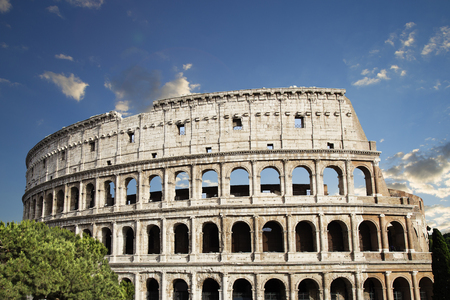 Coliseum in Rome Stock Photo