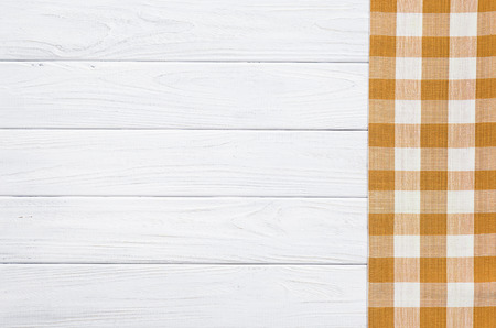 brown napkin on the old wooden table.