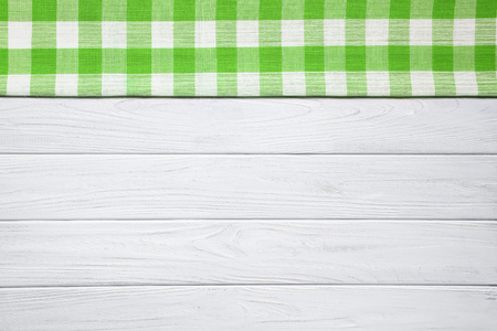 Green on the old wooden table.