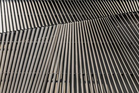 tilted: Abstract tilted line on the wall Stock Photo