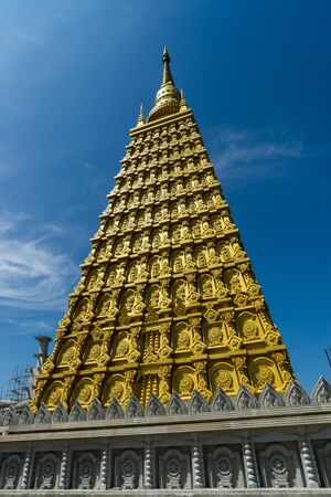 buddism: Golden Pagoda in thailand Stock Photo
