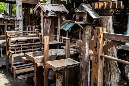 old furniture: Old wood furniture