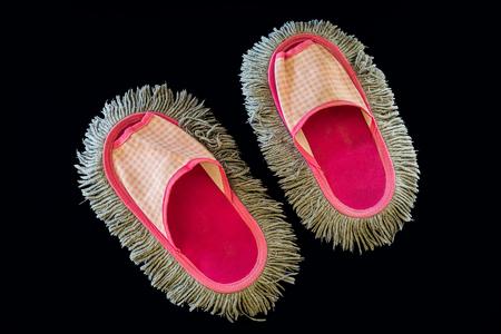 sandalia: fregonas de la sandalia de color rosa