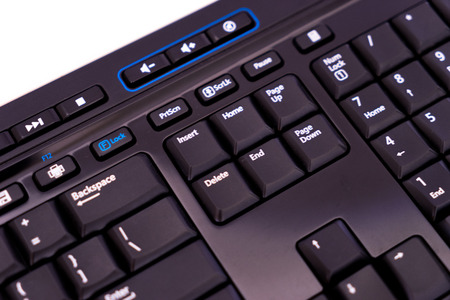 escape key: Computer keyboard isolated on white