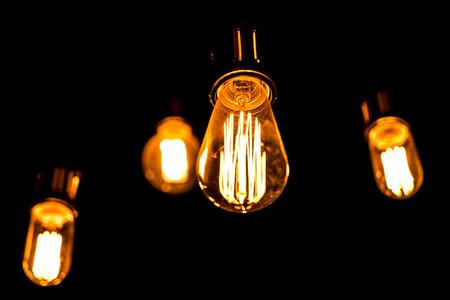 ceiling lamp: Retro style lighting bulb decor