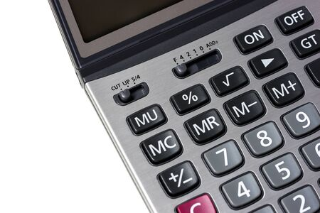 math icon: close up calculator on a isolated white background