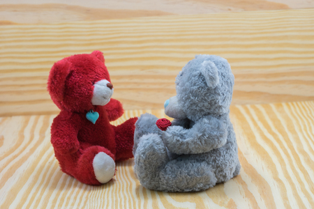 puppy love: dos mu�eca del oso con amor adolescente