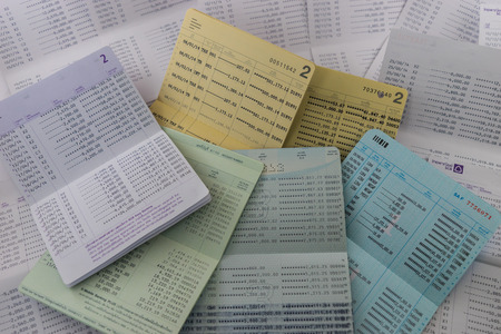 bank statement: A Lot of Book bank statement Stock Photo