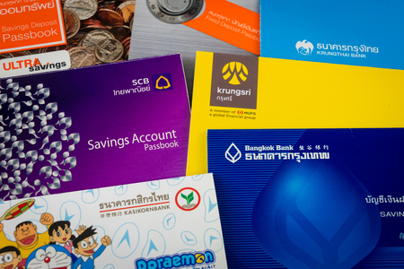 bank records: NAKHON PATHOM - JANUARY 23 : Saving Account Passbook, on January 23, 2016 in Nakhon Pathom, Thailand.