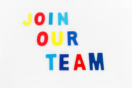 our company: Join Our Team word on white background