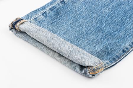 bluejeans: Leg blue jeans on white background