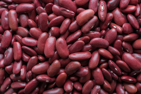 close up red beans background, top view
