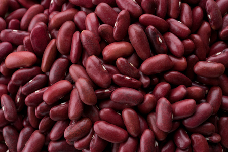 close up red bean whole grain background