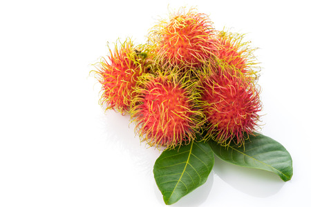 Rambutan fruit isolated on white background