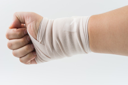 splint: hand bone broken from accident with arm splint