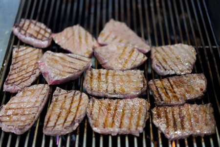 white backing: grilled Japanese wagyu steak