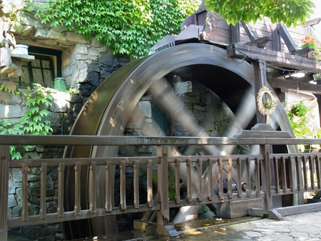 water mill: Water mill which has been converted into a guest house and restaurant. Stock Photo