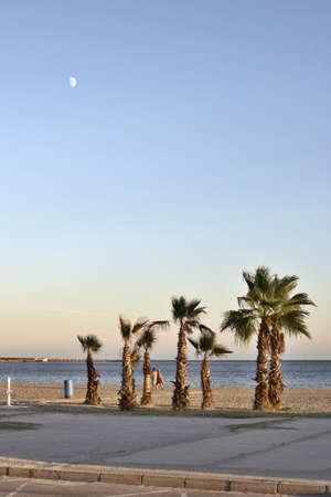 Evening on quay Santa Pola, Alicante Stock Photo - 543195