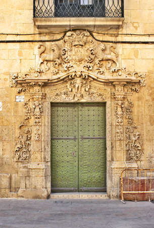 Portal on one of streets of Alicante photo