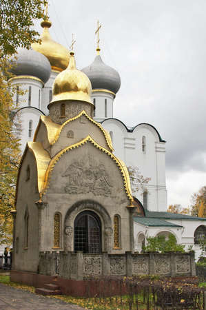 Chapel in Novodevichiy monastery in Moscow, Russia photo