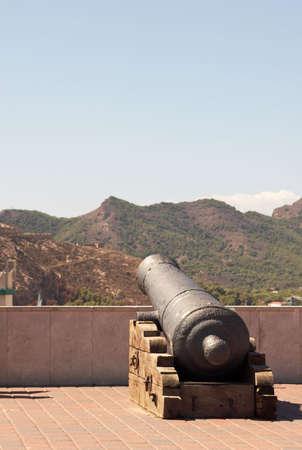 gunnery: Gun in the city castle  of Cartagena