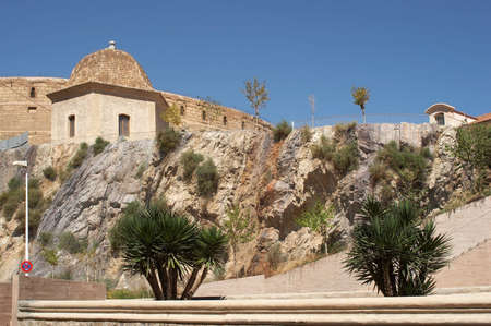 fortification: View to ancient fortification of Cartagena, Spain